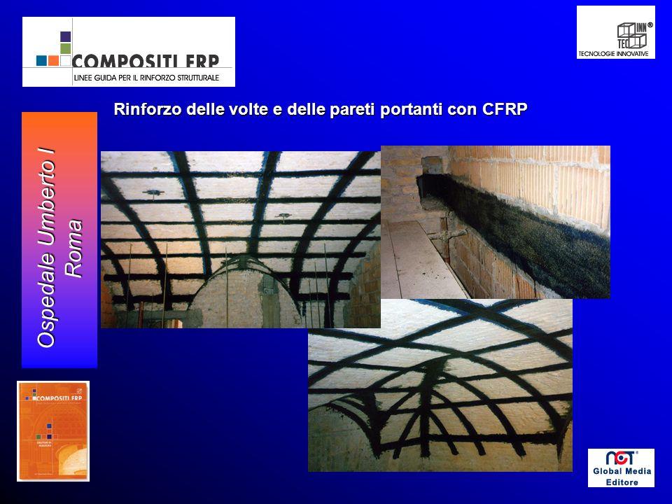 Rinforzo delle volte e delle pareti portanti con CFRP Ospedale Umberto I Roma