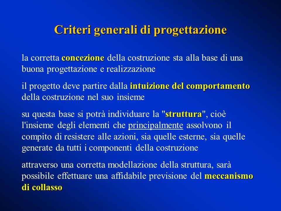 Criteri generali di progettazione concezione la corretta concezione della costruzione sta alla base di una buona progettazione e realizzazione intuizi