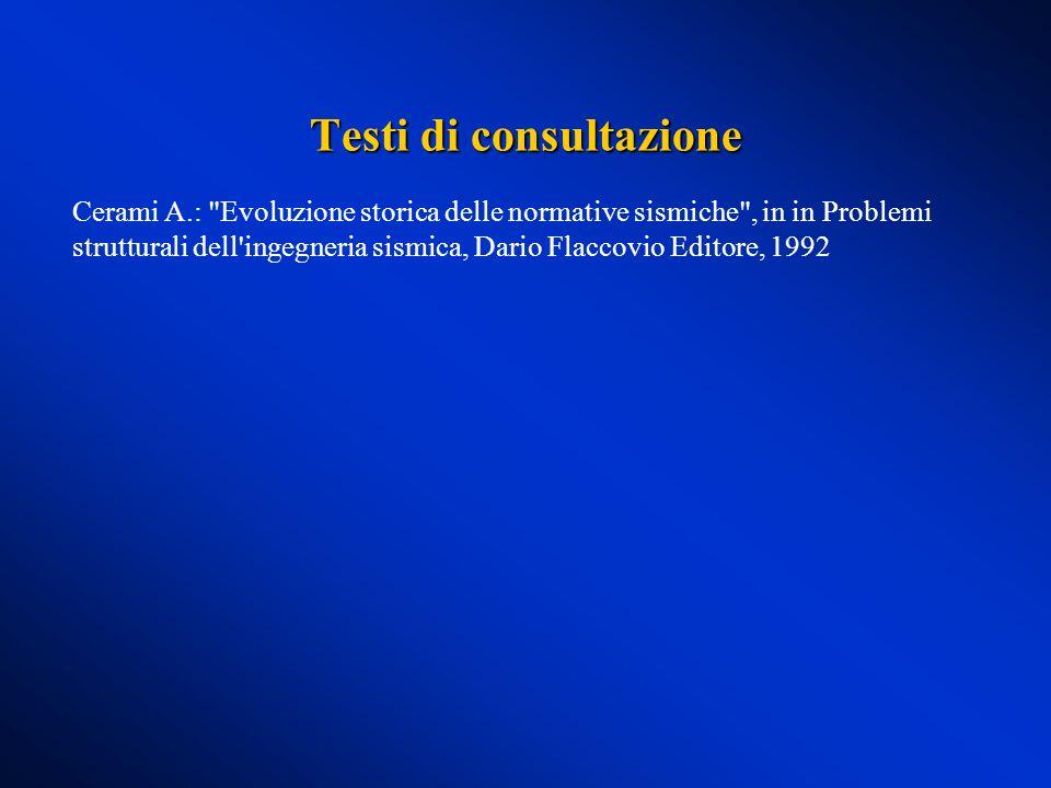 Testi di consultazione Cerami A.: