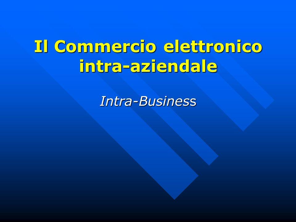 Il Commercio elettronico intra-aziendale Intra-Business