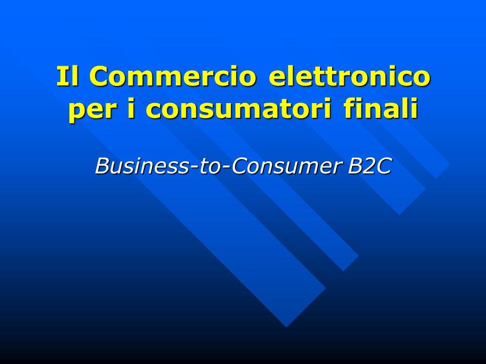 Il Commercio elettronico per i consumatori finali Business-to-Consumer B2C
