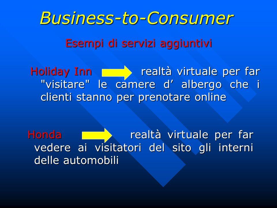 Business-to-Consumer Esempi di servizi aggiuntivi Holiday Inn realtà virtuale per far