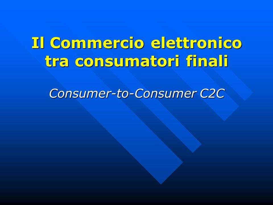 Il Commercio elettronico tra consumatori finali Consumer-to-Consumer C2C