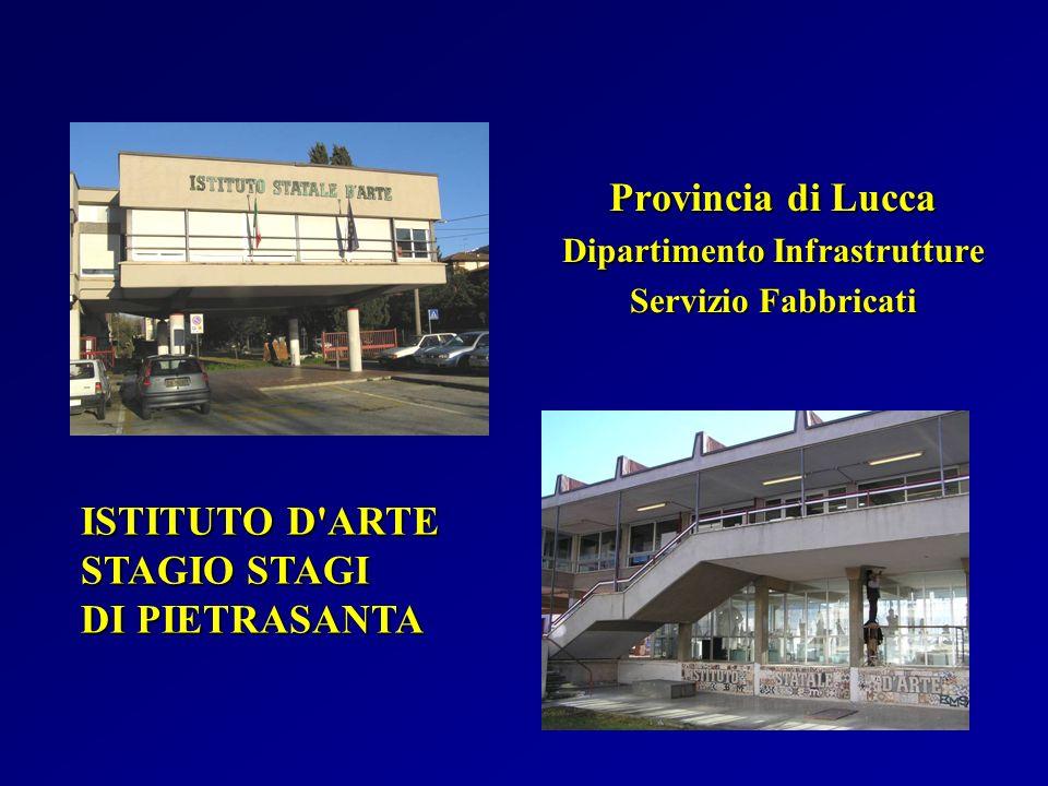 ISTITUTO D'ARTE STAGIO STAGI DI PIETRASANTA Provincia di Lucca Dipartimento Infrastrutture Servizio Fabbricati
