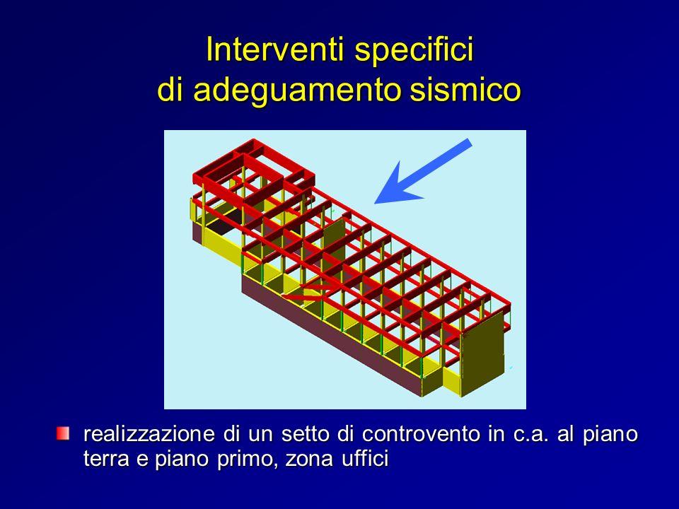 Interventi specifici di adeguamento sismico realizzazione di un setto di controvento in c.a. al piano terra e piano primo, zona uffici