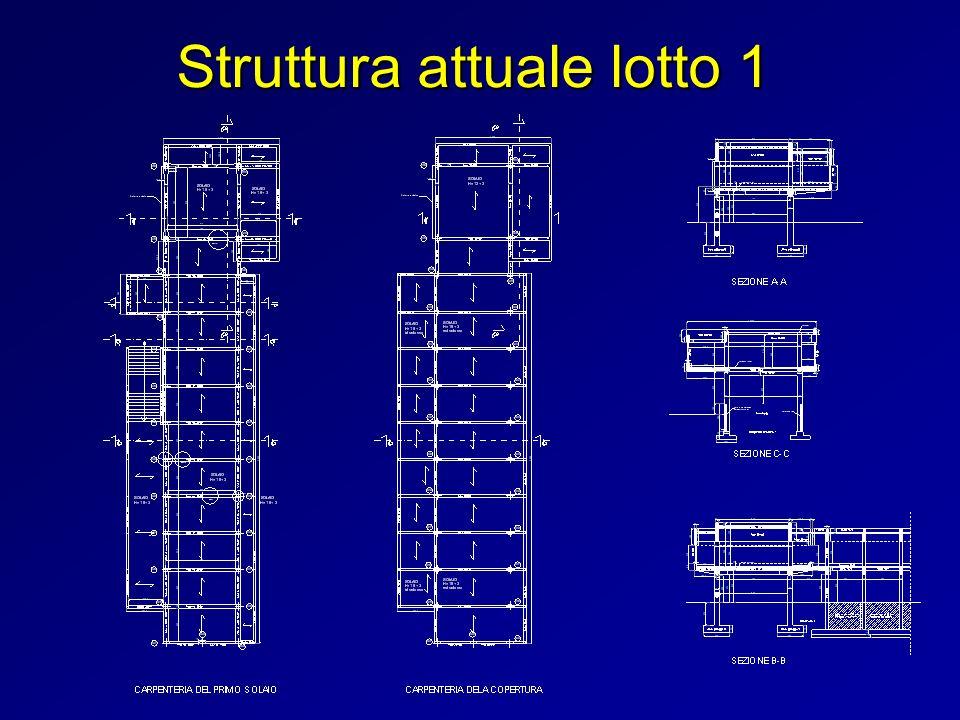 Sezione insufficiente delle travi a sbalzo aula magna Lesioni nei solai del primo piano aula magna