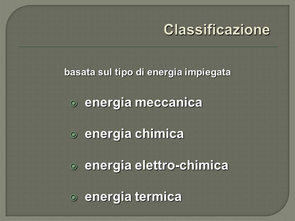 energia meccanica energia meccanica energia chimica energia chimica energia elettro-chimica energia elettro-chimica energia termica energia termica ba