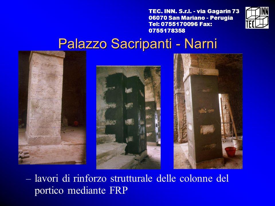 TEC. INN. S.r.l. - via Gagarin 73 06070 San Mariano - Perugia Tel: 0755170096 Fax: 0755178358 – lavori di rinforzo strutturale delle colonne del porti