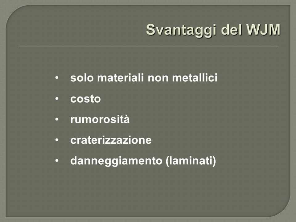 solo materiali non metallici costo rumorosità craterizzazione danneggiamento (laminati)