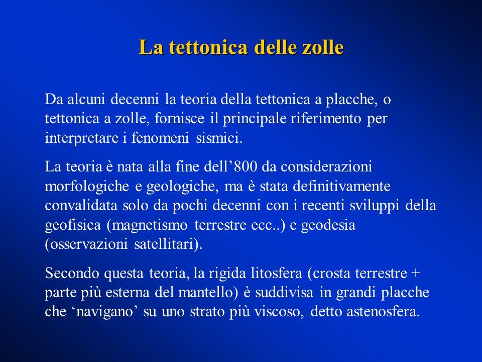 Da alcuni decenni la teoria della tettonica a placche, o tettonica a zolle, fornisce il principale riferimento per interpretare i fenomeni sismici. La
