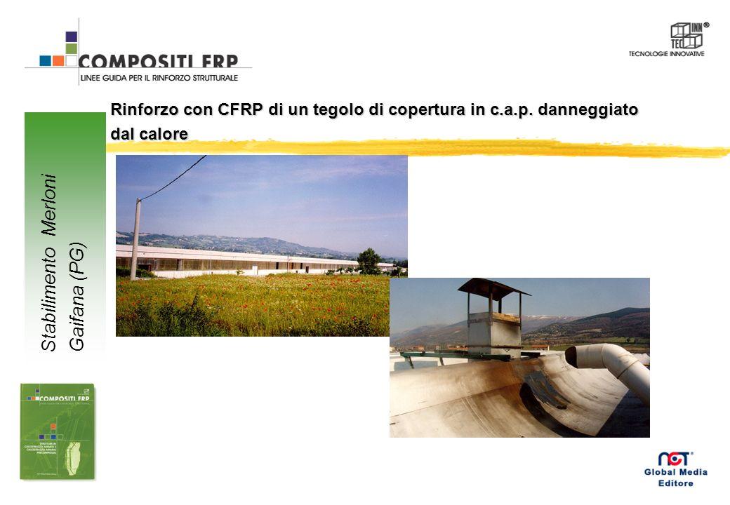 Rinforzo con CFRP di un tegolo di copertura in c.a.p.