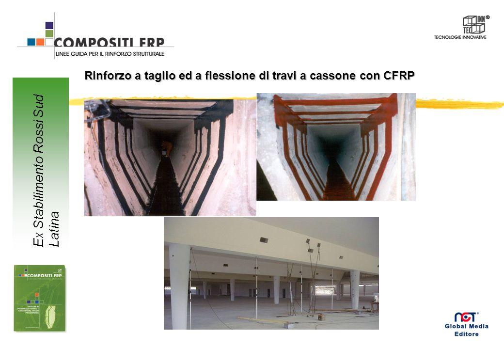Rinforzo a taglio ed a flessione di travi a cassone con CFRP Ex Stabilimento Rossi Sud Latina