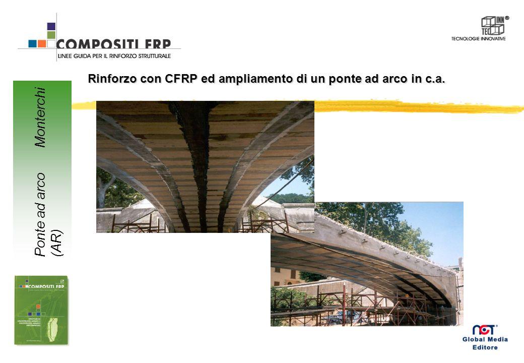 Rinforzo con CFRP ed ampliamento di un ponte ad arco in c.a. Ponte ad arco Monterchi (AR)
