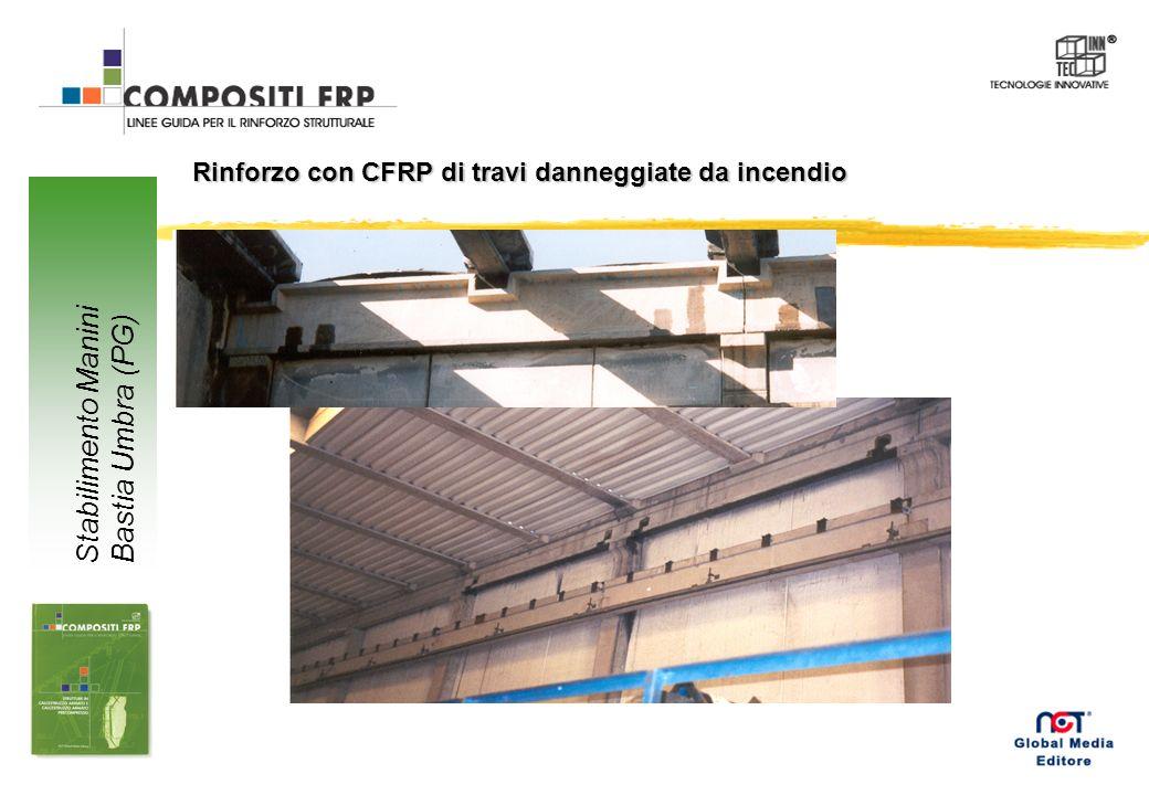 Rinforzo con CFRP di travi danneggiate da incendio Stabilimento Manini Bastia Umbra (PG)