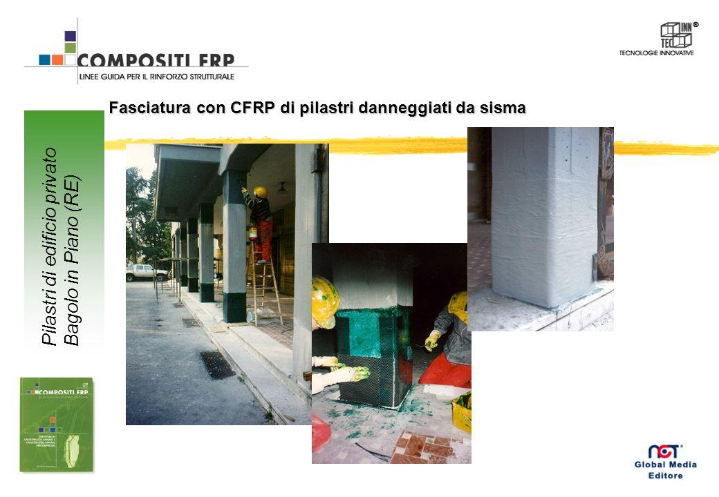 Rinforzo di travi e pilastri con tessuto in CFRP Passerella pedonale Civita di Bagnoregio (VT)