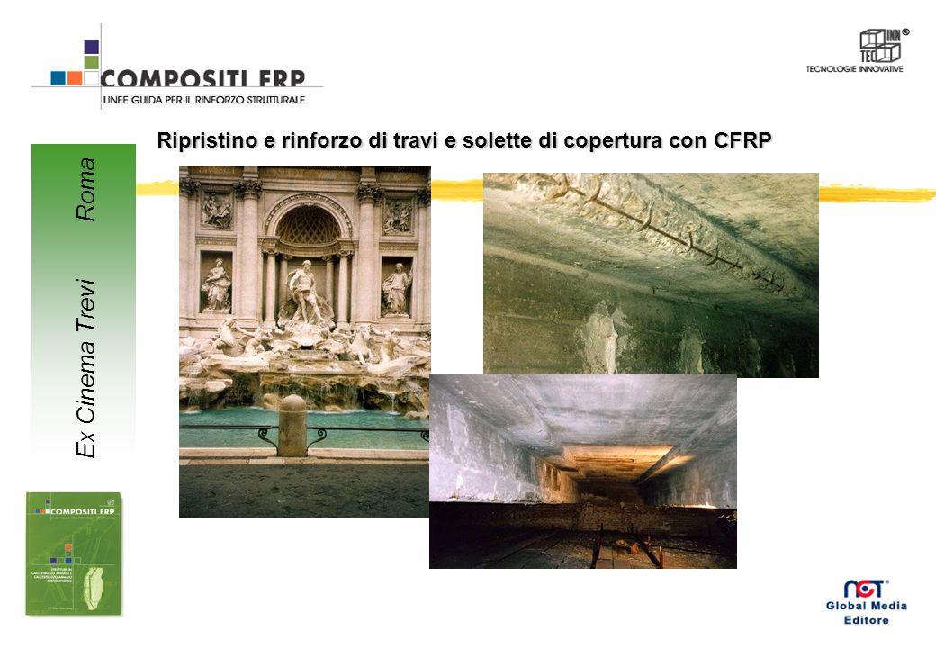 Ripristino e rinforzo di travi e solette di copertura con CFRP Ex Cinema Trevi Roma