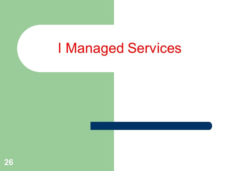 26 I Managed Services