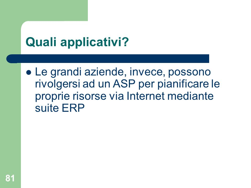 81 Quali applicativi.