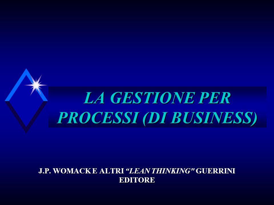 LA GESTIONE PER PROCESSI (DI BUSINESS) J.P. WOMACK E ALTRI LEAN THINKING GUERRINI EDITORE