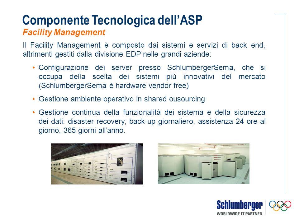 Il Facility Management è composto dai sistemi e servizi di back end, altrimenti gestiti dalla divisione EDP nelle grandi aziende: Configurazione dei s