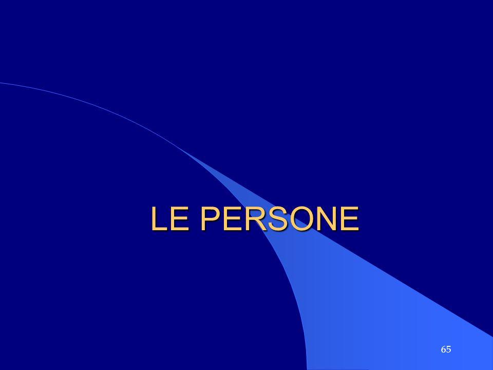 65 LE PERSONE