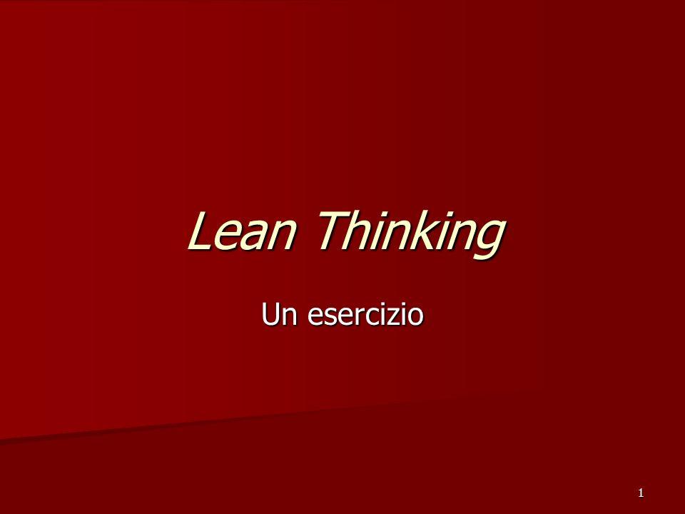 1 Lean Thinking Un esercizio