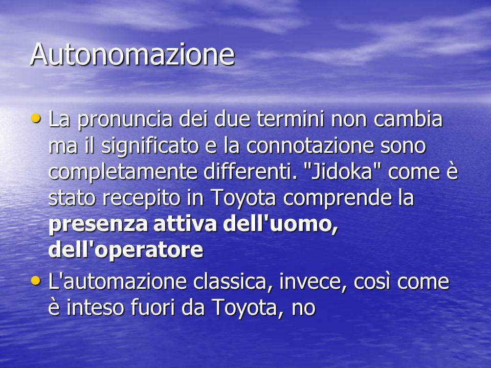 Autonomazione La pronuncia dei due termini non cambia ma il significato e la connotazione sono completamente differenti.