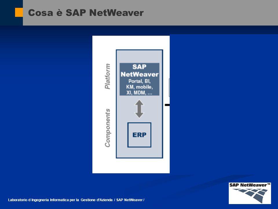 Cosa è SAP NetWeaver Laboratorio d Ingegneria Informatica per la Gestione dAzienda / SAP NetWeaver /