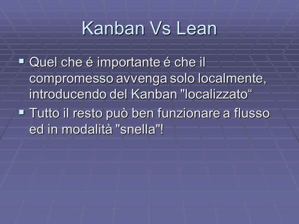 Regole Alcune regole basilari per l uso del Kanban: Alcune regole basilari per l uso del Kanban: loperatore può produrre solamente quando è disponibile un segnale kanban.