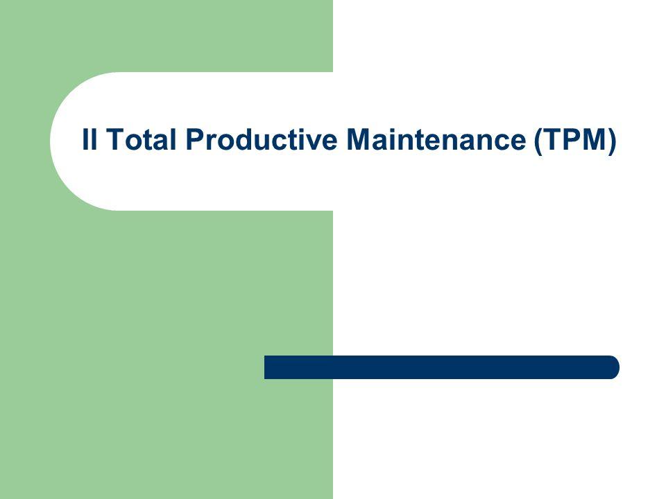 Total Productive Maintenance (TPM) Non c é settore industriale, oggigiorno, in cui i processi produttivi possano essere eseguiti senza tecnologia (impianti, macchine, attrezzature.....) In un processo produttivo ideale, gli impianti tecnologici dovrebbero operare al 100% di capacità, per il 100% del tempo disponibile, generando valore