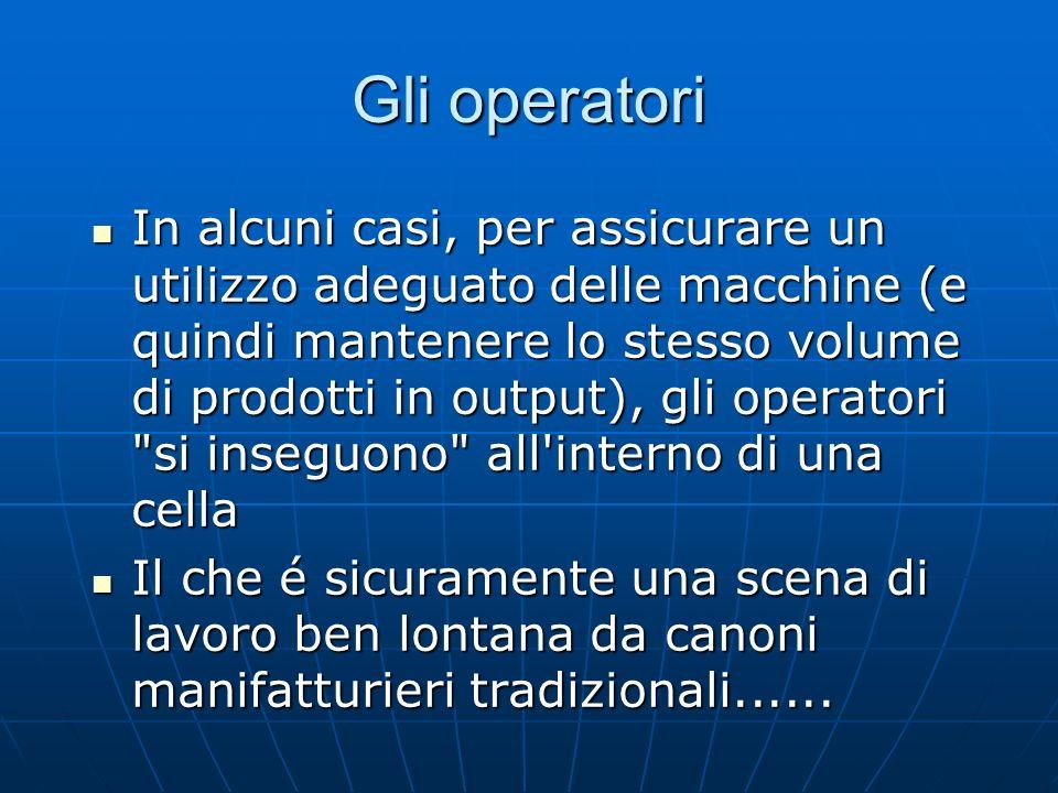 In alcuni casi, per assicurare un utilizzo adeguato delle macchine (e quindi mantenere lo stesso volume di prodotti in output), gli operatori