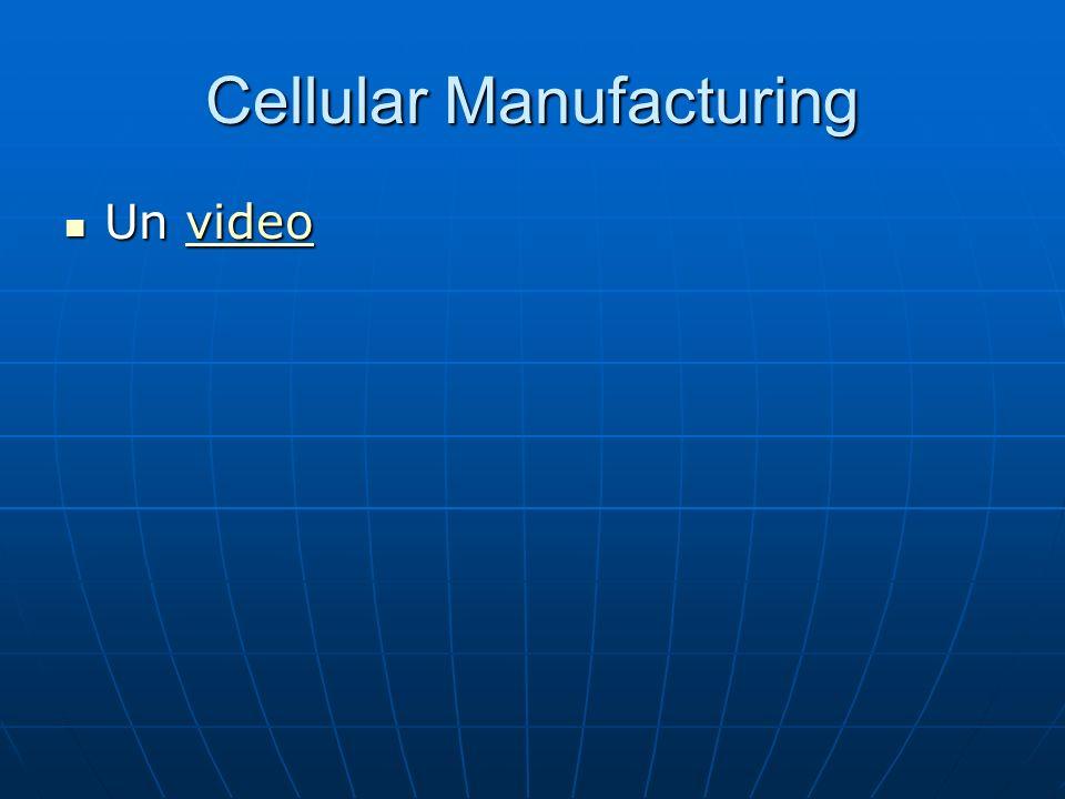 Cellular Manufacturing Un video Un videovideo