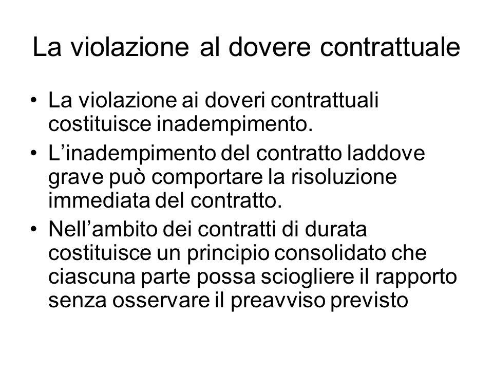 La gravità dellinadempimento Però per risolvere anzitempo il contratto occorre un inadempimento grave.