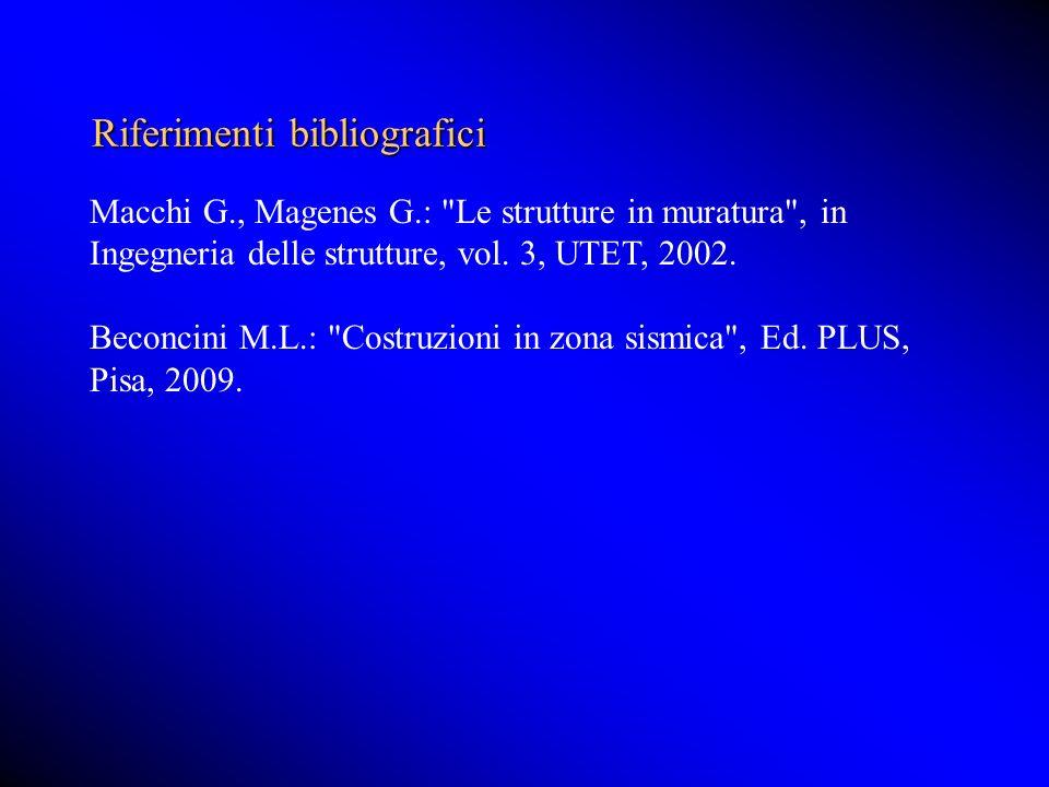 Riferimenti bibliografici Macchi G., Magenes G.: