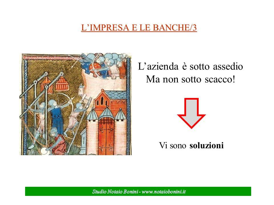 LIMPRESA E LE BANCHE/3 Vi sono soluzioni Lazienda è sotto assedio Ma non sotto scacco!