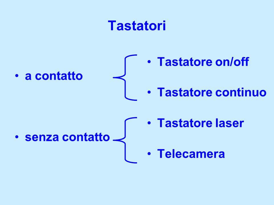 Tastatore on/off Tastatore continuo Tastatore laser Telecamera Tastatori a contatto senza contatto