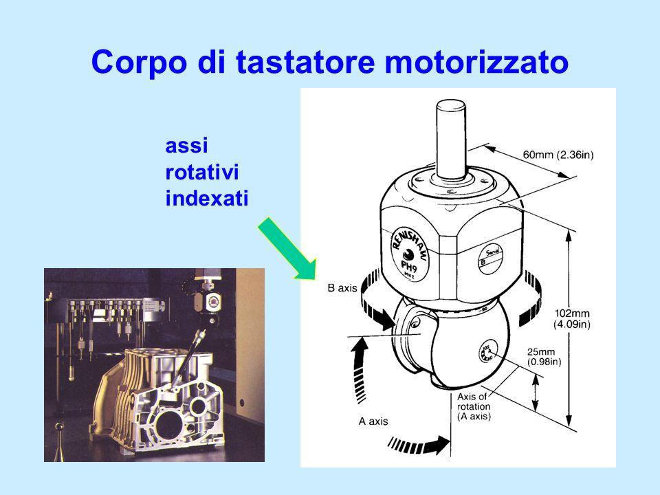 Corpo di tastatore motorizzato assi rotativi indexati