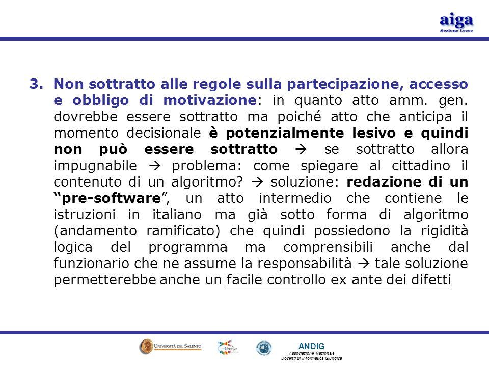 ANDIG Associazione Nazionale Docenti di Informatica Giuridica 3.