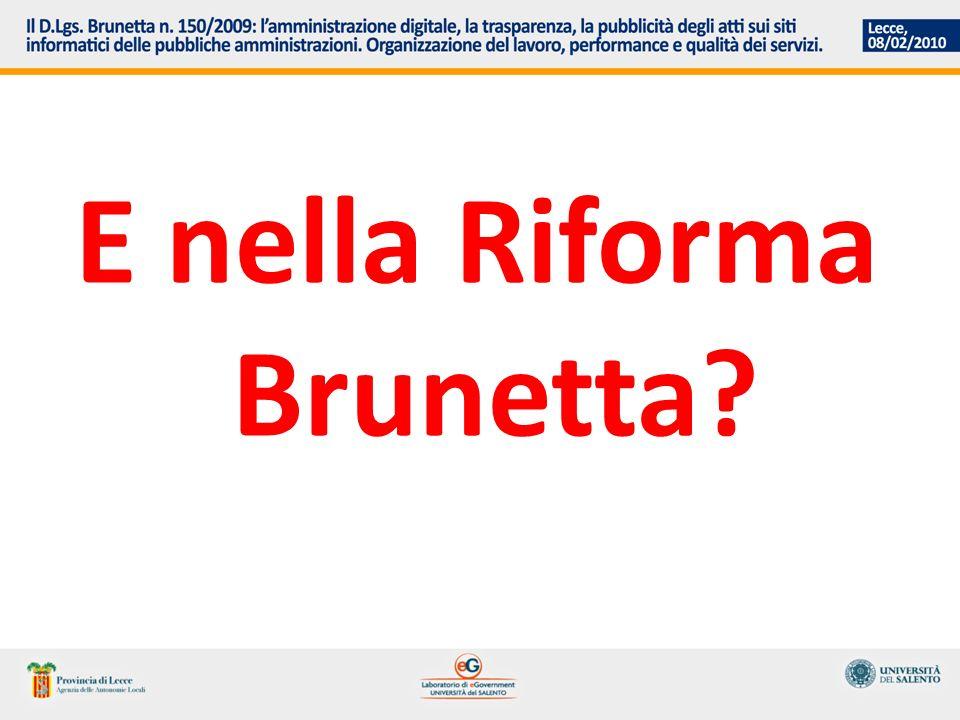 E nella Riforma Brunetta