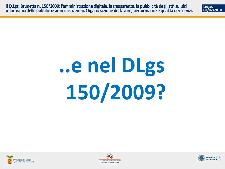 ..e nel DLgs 150/2009