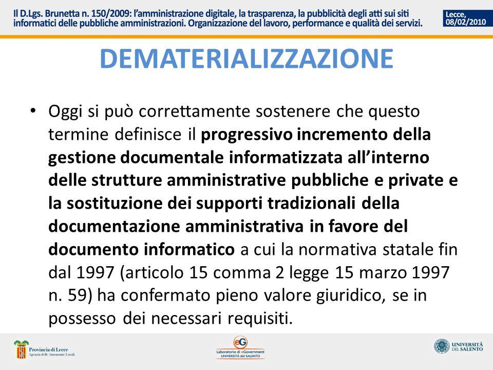 44.Requisiti per la conservazione dei documenti informatici 1.