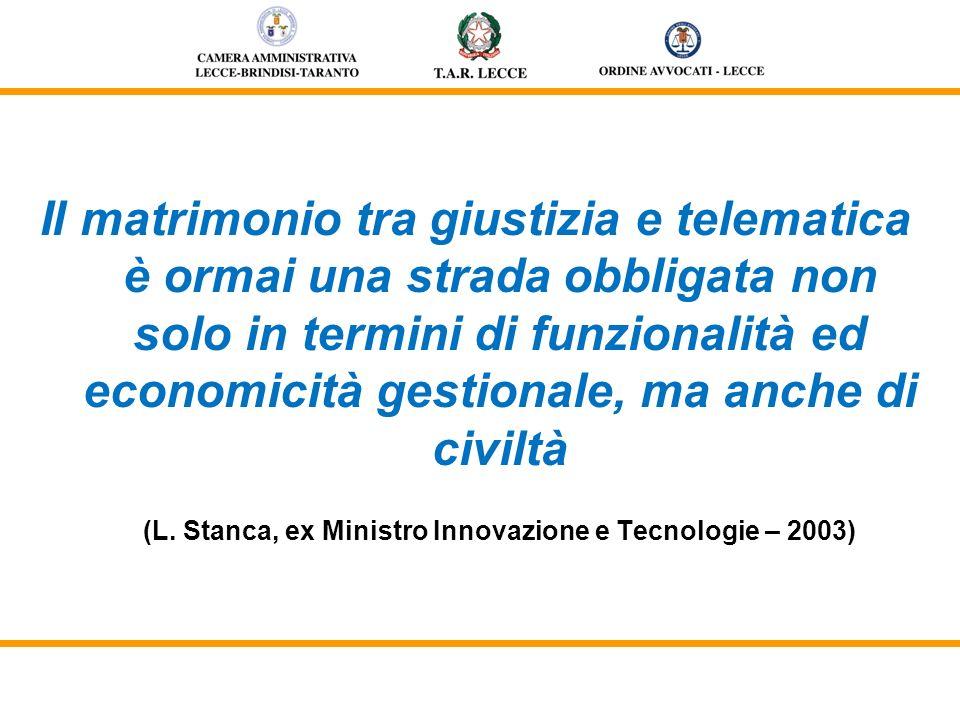 Piano eGovernment 2012: Forte attenzione al civile e penale Notificazioni telematiche delle comunicazioni e degli atti processuali (L.