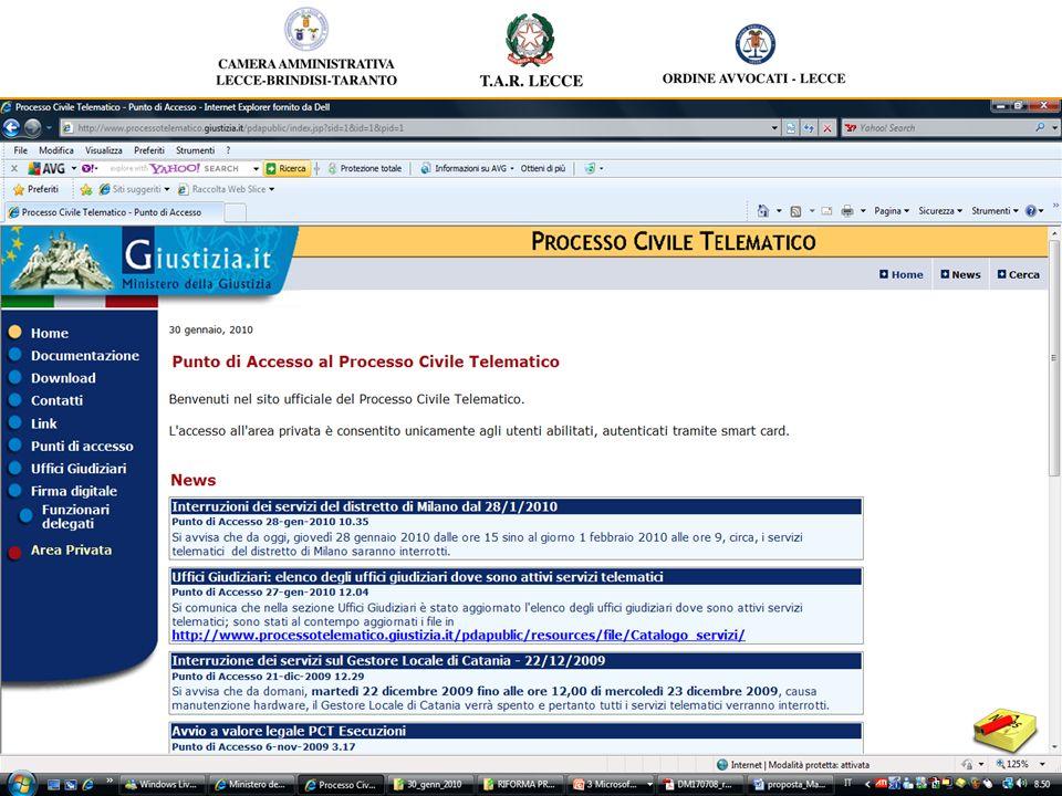 Alterego: - consente con smart card laccesso sicuro a Polisweb (cause pendenti Tribunali ordinari) e trasferimento automatico di informazioni nei moduli gestionali (Pratiche e Agenda) - pulsante firma digitale