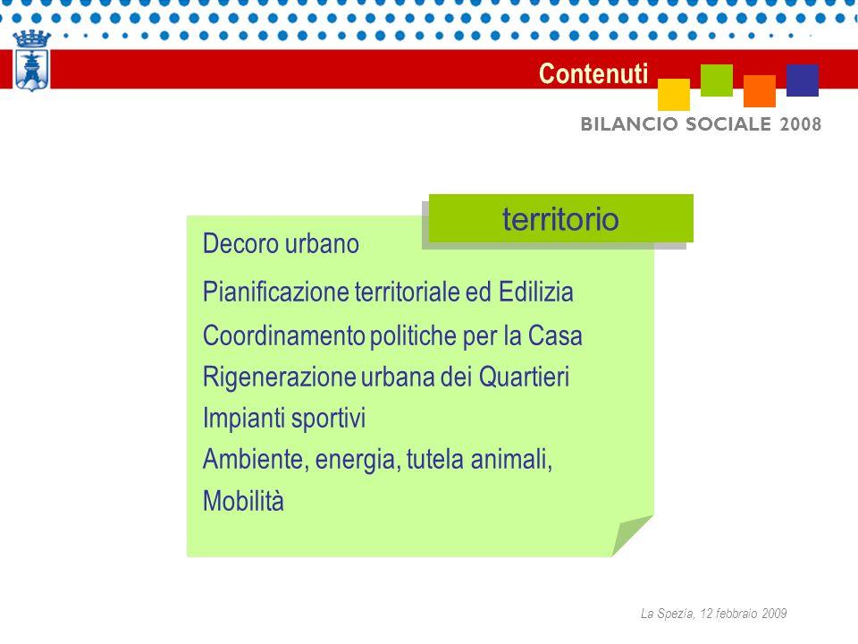 BILANCIO SOCIALE 2008 Decoro urbano Pianificazione territoriale ed Edilizia Coordinamento politiche per la Casa Rigenerazione urbana dei Quartieri Imp