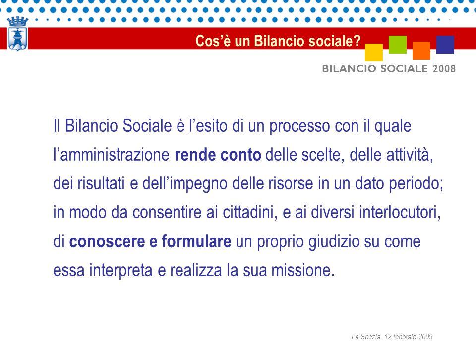 BILANCIO SOCIALE 2008 Il Bilancio sociale è uno strumento volontario di informazione e comunicazione a consuntivo circa l utilizzo efficace ed efficiente delle risorse pubbliche.