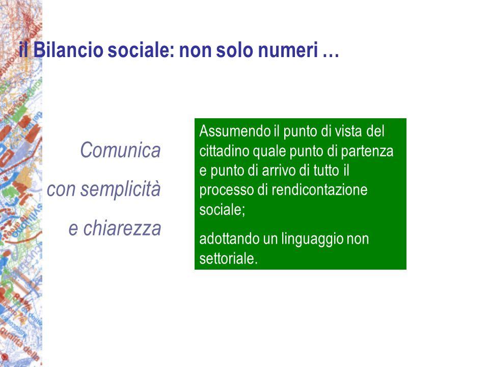 Assumendo il punto di vista del cittadino quale punto di partenza e punto di arrivo di tutto il processo di rendicontazione sociale; adottando un linguaggio non settoriale.