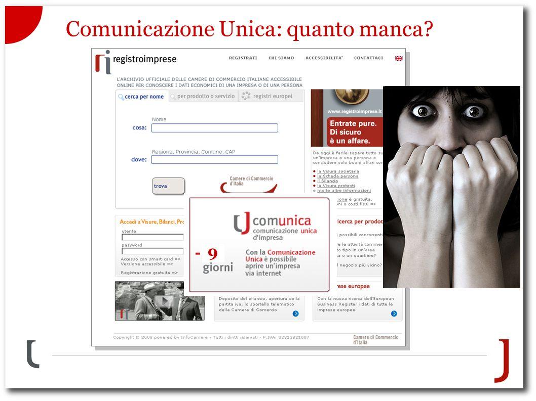 Comunicazione Unica: quanto manca 9