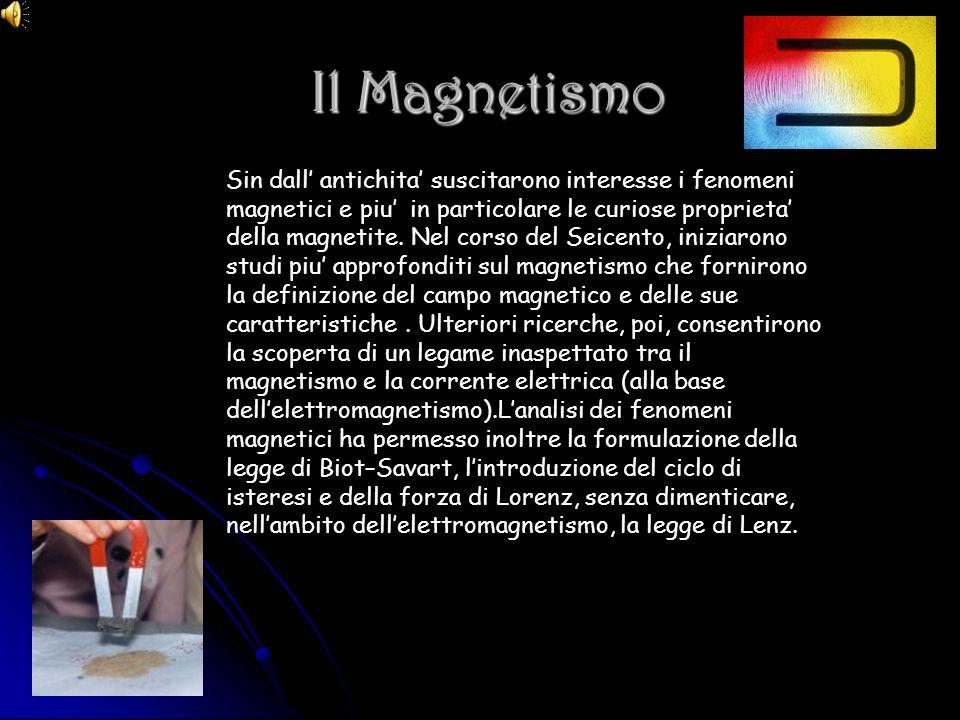 Il Magnetismo Il Magnetismo Sin dall antichita suscitarono interesse i fenomeni magnetici e piu in particolare le curiose proprieta della magnetite. N