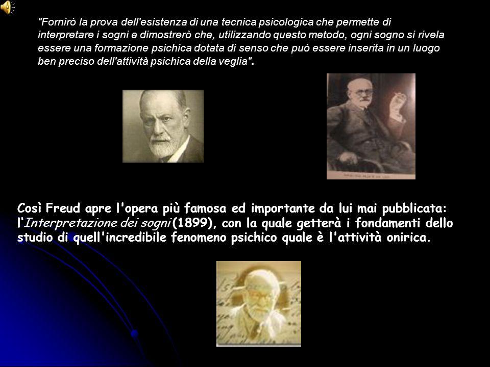 Così Freud apre l'opera più famosa ed importante da lui mai pubblicata: lInterpretazione dei sogni (1899), con la quale getterà i fondamenti dello stu