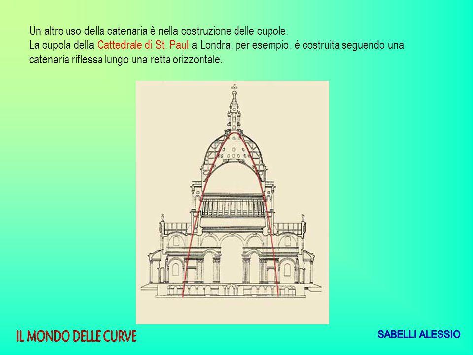 Un altro uso della catenaria è nella costruzione delle cupole. La cupola della Cattedrale di St. Paul a Londra, per esempio, è costruita seguendo una